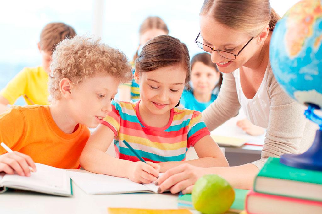 K-8-Teacher-and-two-kids-in-school